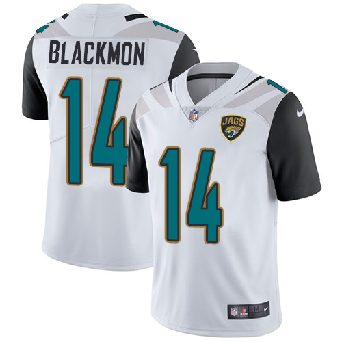 2019 Men Jacksonville Jaguars 14 Blackmon white Nike Vapor Untouchable Limited NFL Jersey