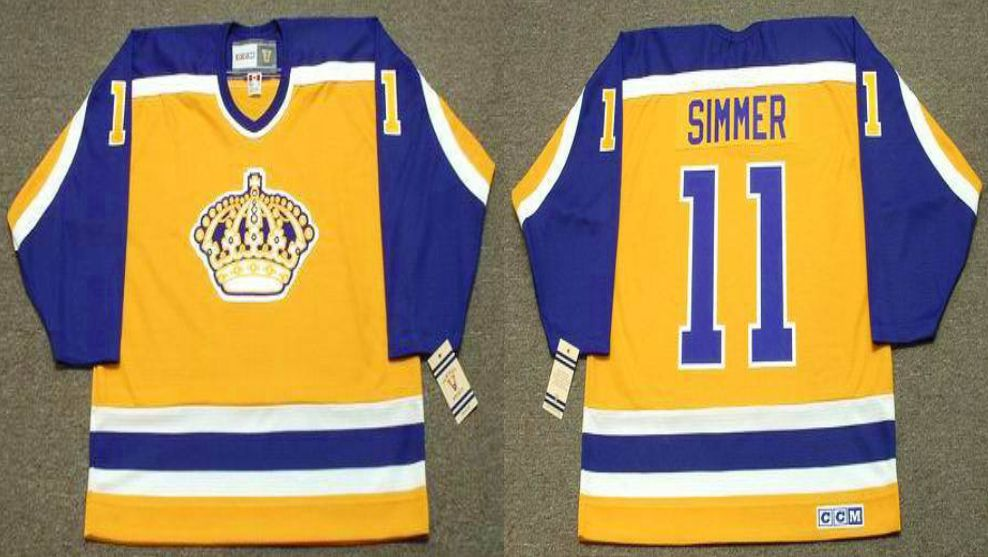 2019 Men Los Angeles Kings 11 Simmer Yellow CCM NHL jerseys