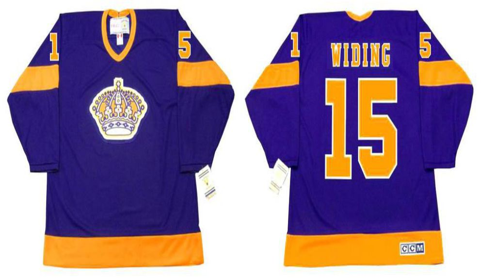 2019 Men Los Angeles Kings 15 Widing Purple CCM NHL jerseys