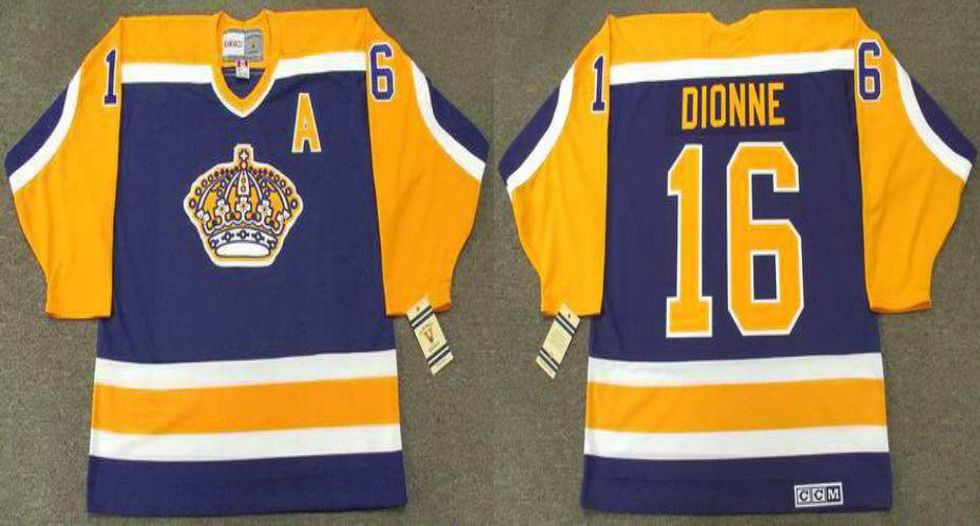 2019 Men Los Angeles Kings 16 Dionne Blue CCM NHL jerseys
