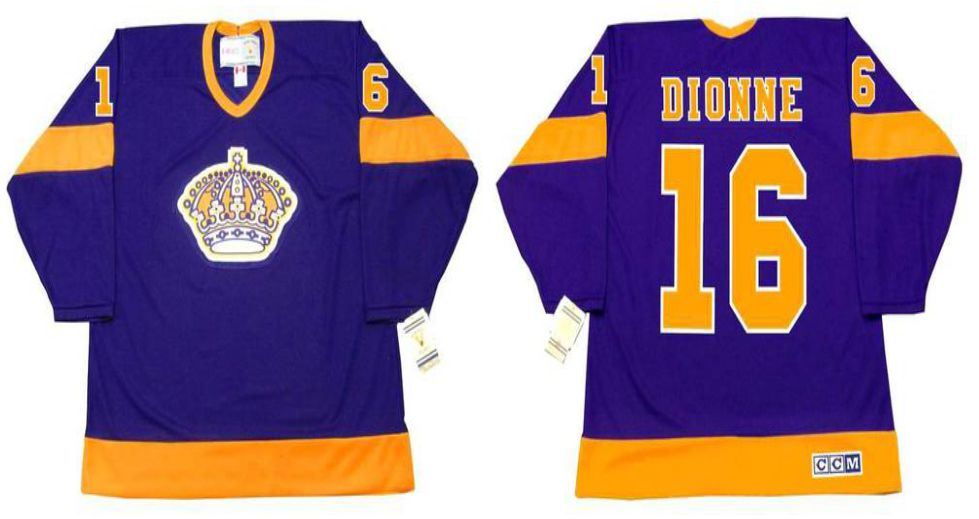 2019 Men Los Angeles Kings 16 Dionne Purple CCM NHL jerseys