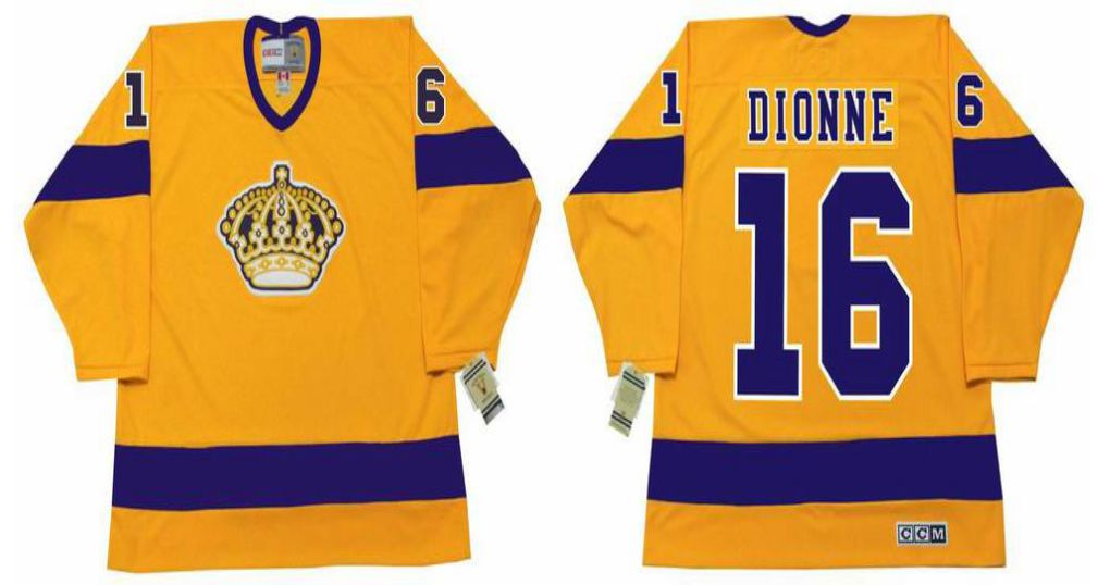 2019 Men Los Angeles Kings 16 Dionne Yellow CCM NHL jerseys