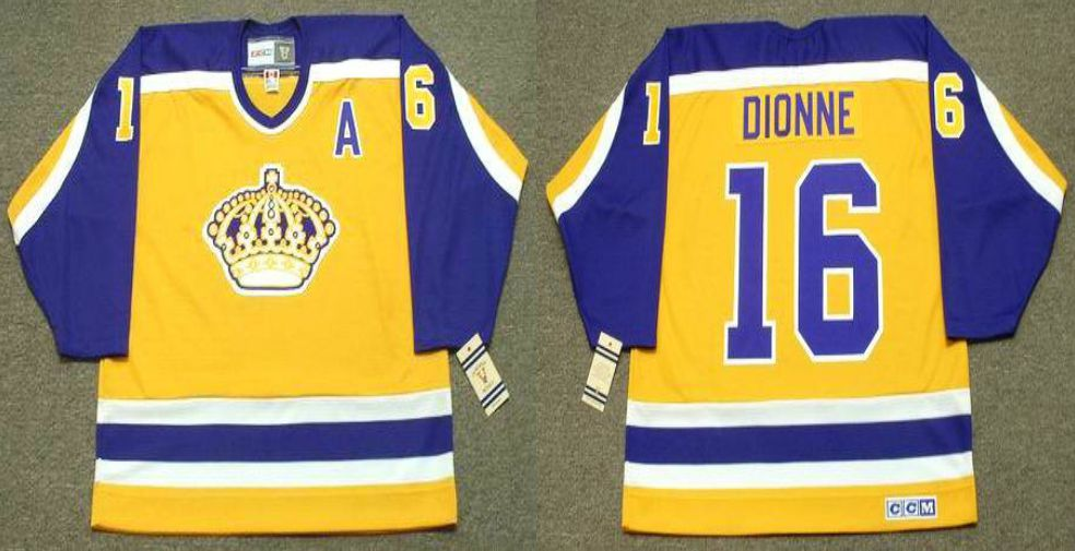 2019 Men Los Angeles Kings 16 Dionne Yellow CCM NHL jerseys1