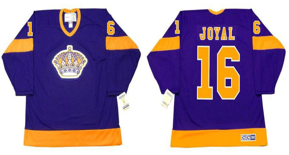 2019 Men Los Angeles Kings 16 Joyal Purple CCM NHL jerseys