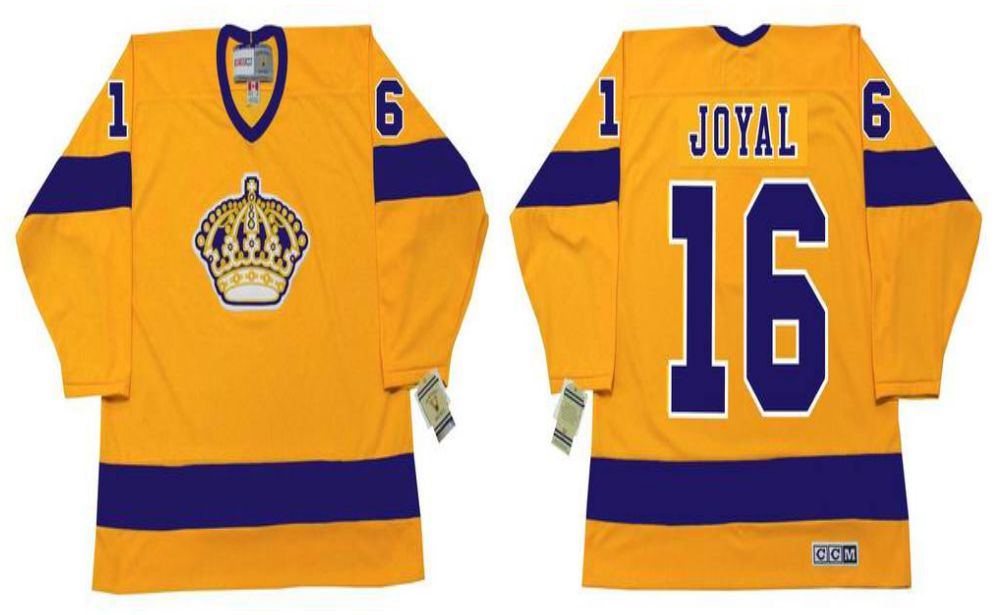 2019 Men Los Angeles Kings 16 Joyal Yellow CCM NHL jerseys
