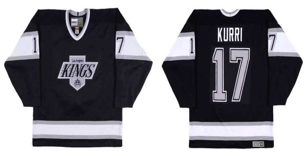 2019 Men Los Angeles Kings 17 Kurri Black CCM NHL jerseys