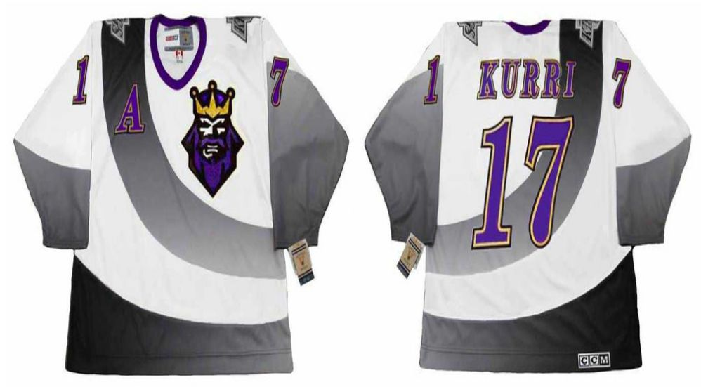 2019 Men Los Angeles Kings 17 Kurri White CCM NHL jerseys