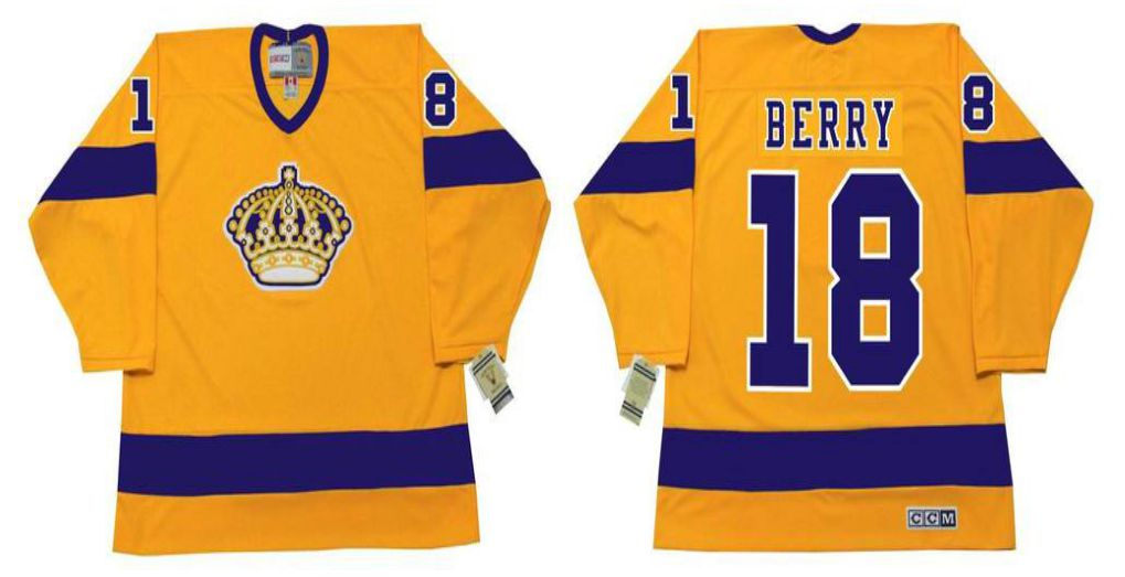 2019 Men Los Angeles Kings 18 Berry Yellow CCM NHL jerseys