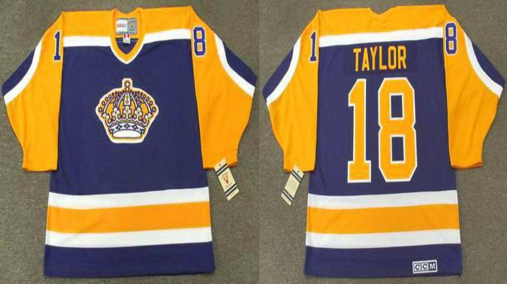 2019 Men Los Angeles Kings 18 Taylor Blue CCM NHL jerseys
