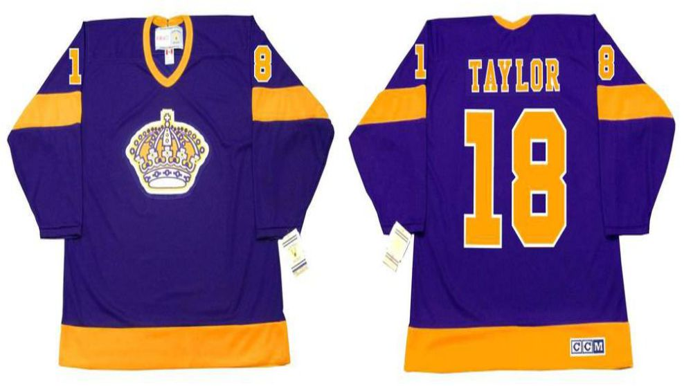 2019 Men Los Angeles Kings 18 Taylor Purple CCM NHL jerseys