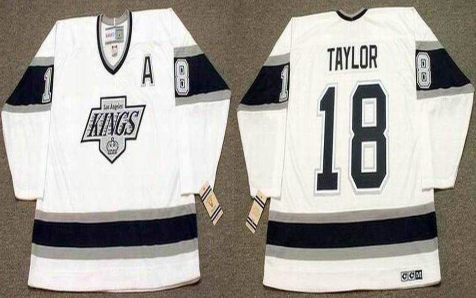 2019 Men Los Angeles Kings 18 Taylor White CCM NHL jerseys