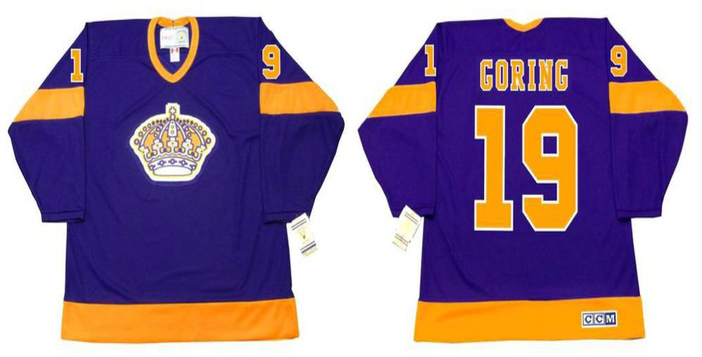 2019 Men Los Angeles Kings 19 Goring Purple CCM NHL jerseys