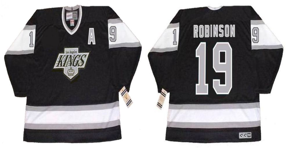 2019 Men Los Angeles Kings 19 Robinson Black CCM NHL jerseys