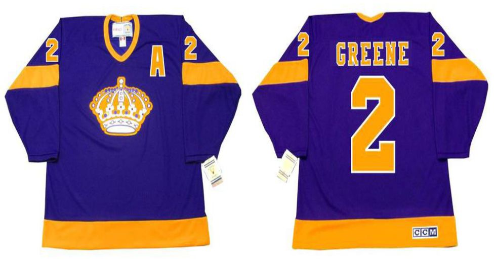 2019 Men Los Angeles Kings 2 Greene Purple CCM NHL jerseys