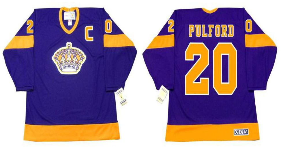 2019 Men Los Angeles Kings 20 Pulford Purple CCM NHL jerseys