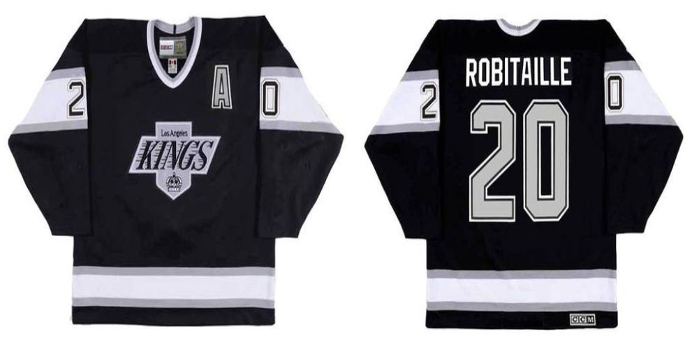 2019 Men Los Angeles Kings 20 Robitaille Black CCM NHL jerseys