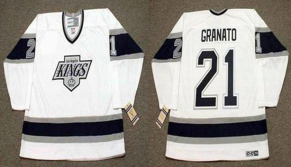 2019 Men Los Angeles Kings 21 Granato White CCM NHL jerseys1