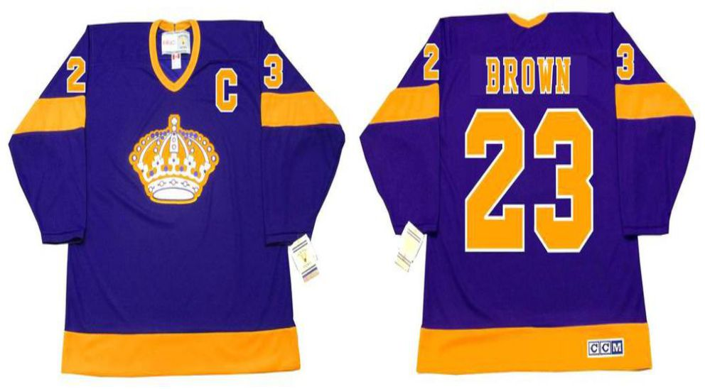 2019 Men Los Angeles Kings 23 Brown Purple CCM NHL jerseys