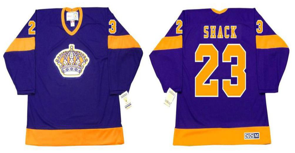 2019 Men Los Angeles Kings 23 Shack Purple CCM NHL jerseys