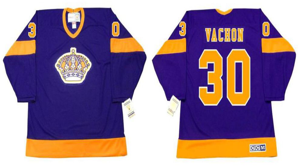2019 Men Los Angeles Kings 30 Vachon Purple CCM NHL jerseys