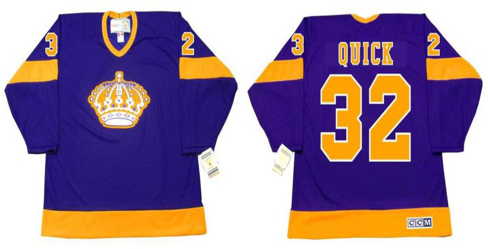 2019 Men Los Angeles Kings 32 Quick Purple CCM NHL jerseys