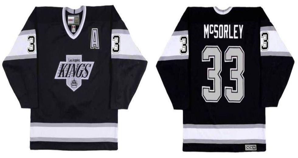2019 Men Los Angeles Kings 33 Mcsorley Black CCM NHL jerseys