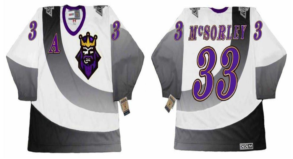 2019 Men Los Angeles Kings 33 Mcsorley White CCM NHL jerseys