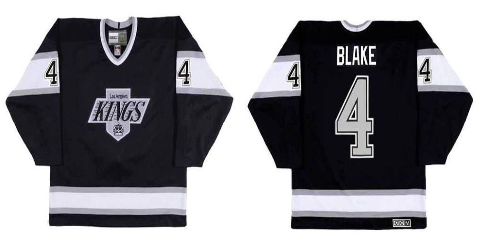 2019 Men Los Angeles Kings 4 Blake Black CCM NHL jerseys
