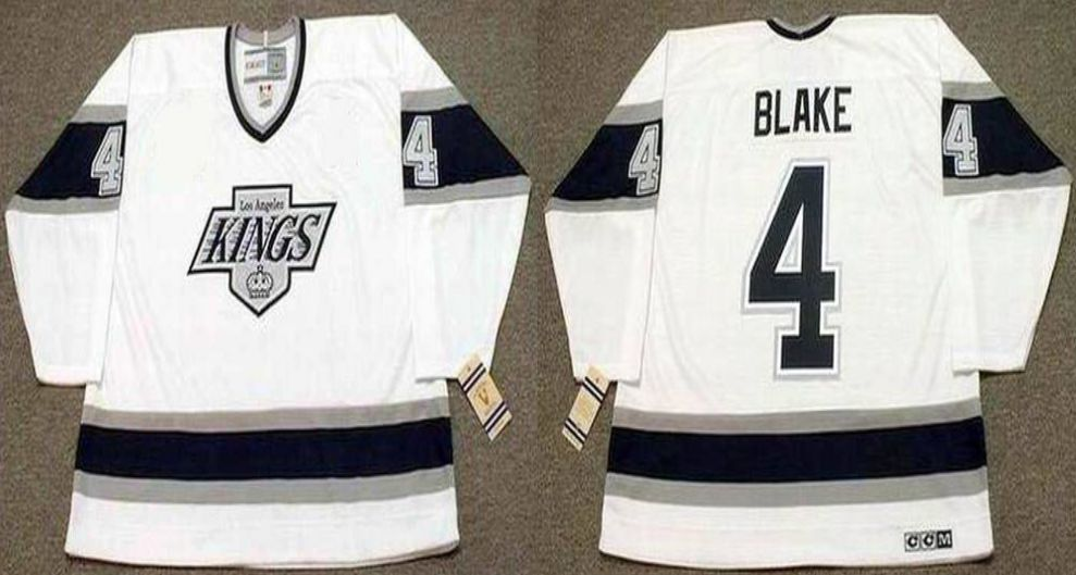 2019 Men Los Angeles Kings 4 Blake White CCM NHL jerseys1