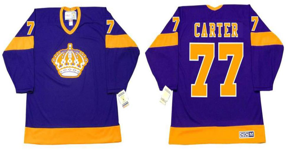 2019 Men Los Angeles Kings 77 Carter Purple CCM NHL jerseys