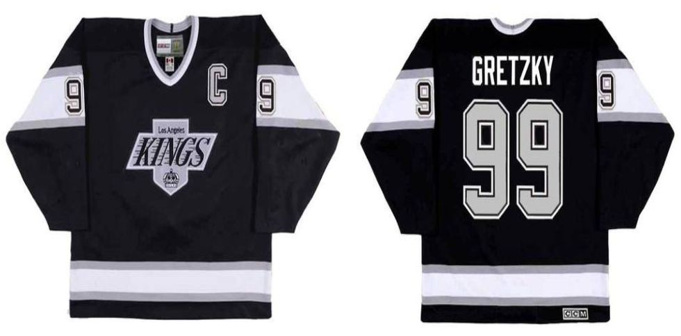 2019 Men Los Angeles Kings 99 Gretzky Black CCM NHL jerseys
