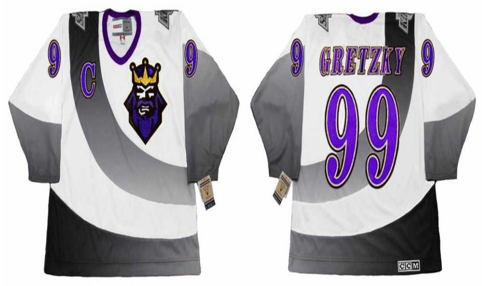 2019 Men Los Angeles Kings 99 Gretzky White CCM NHL jerseys