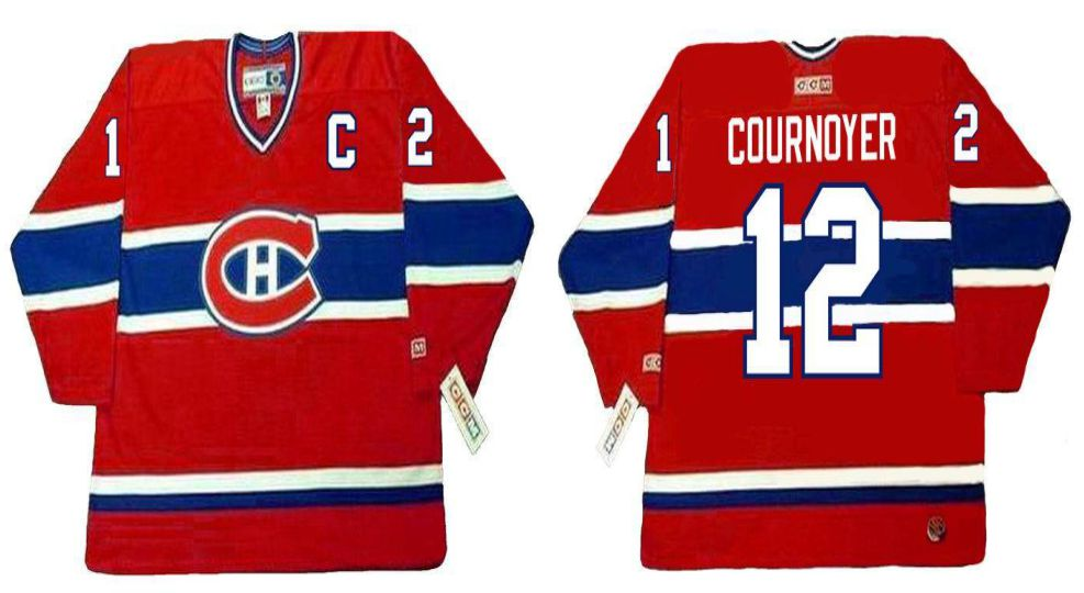 2019 Men Montreal Canadiens 12 Cournoyer Red CCM NHL jerseys