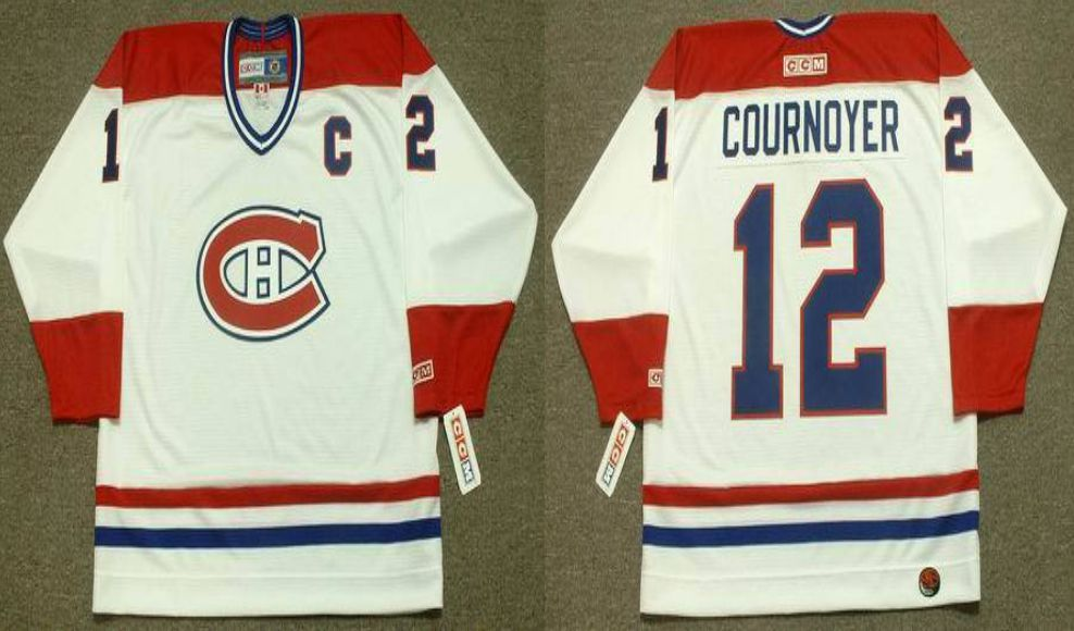 2019 Men Montreal Canadiens 12 Cournoyer White CCM NHL jerseys