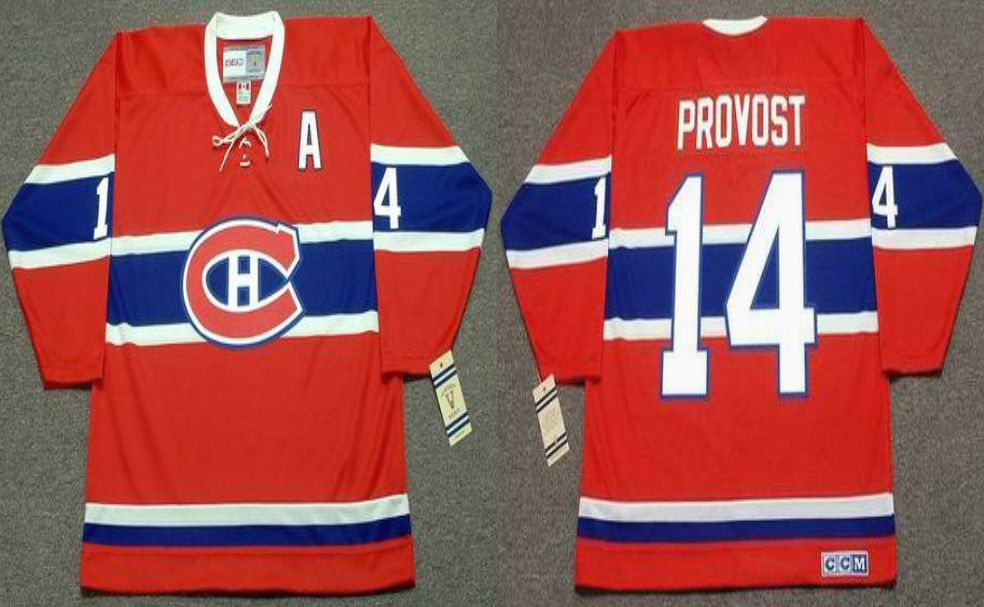 2019 Men Montreal Canadiens 14 Provost Red CCM NHL jerseys