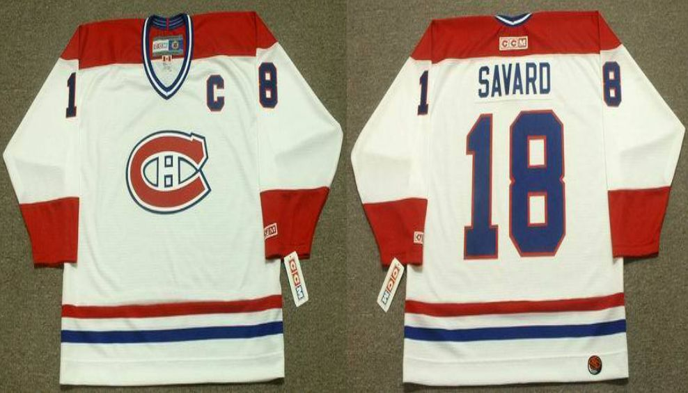 2019 Men Montreal Canadiens 18 Savard White CCM NHL jerseys