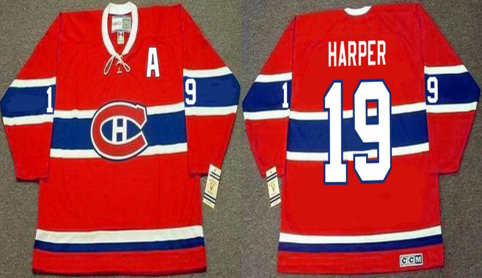 2019 Men Montreal Canadiens 19 Harper Red CCM NHL jerseys