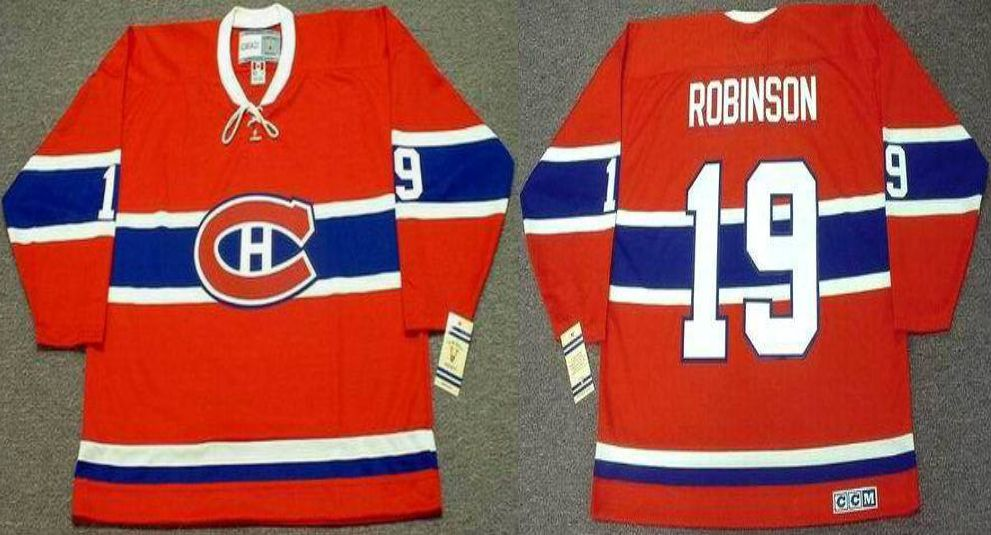 2019 Men Montreal Canadiens 19 Robinson Red CCM NHL jerseys