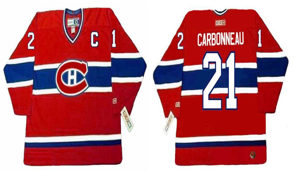 2019 Men Montreal Canadiens 21 Carbonneau Red CCM NHL jerseys