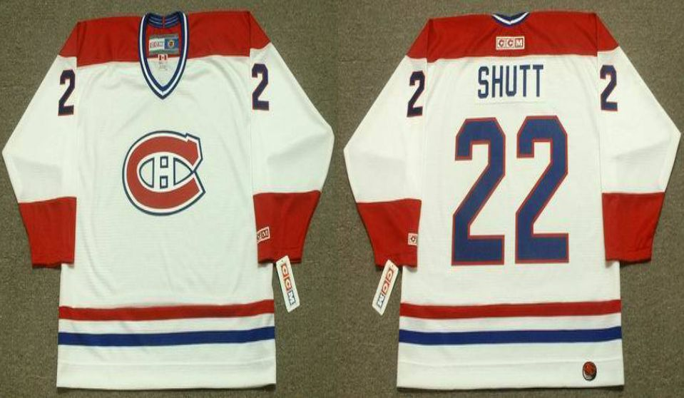 2019 Men Montreal Canadiens 22 Shutt White CCM NHL jerseys