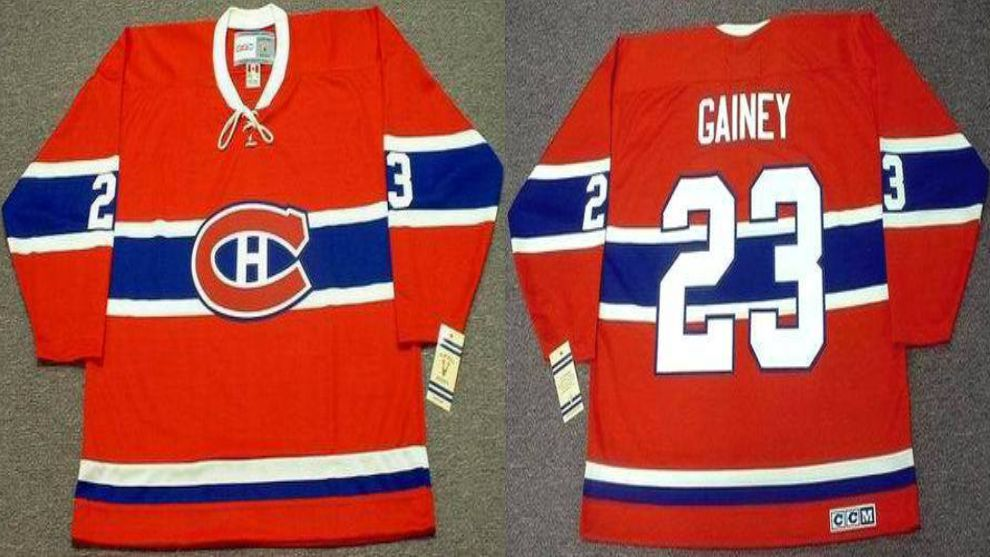 2019 Men Montreal Canadiens 23 Gainey Red CCM NHL jerseys