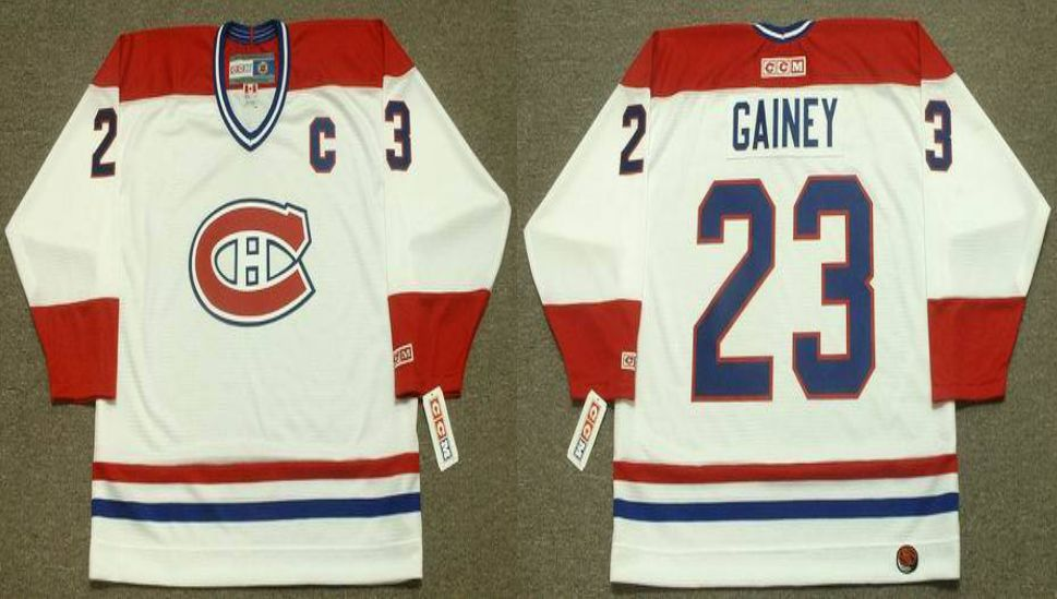 2019 Men Montreal Canadiens 23 Gainey White CCM NHL jerseys