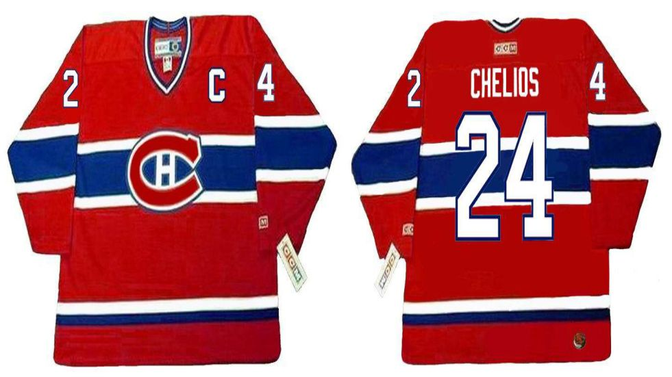 2019 Men Montreal Canadiens 24 Chelios Red CCM NHL jerseys