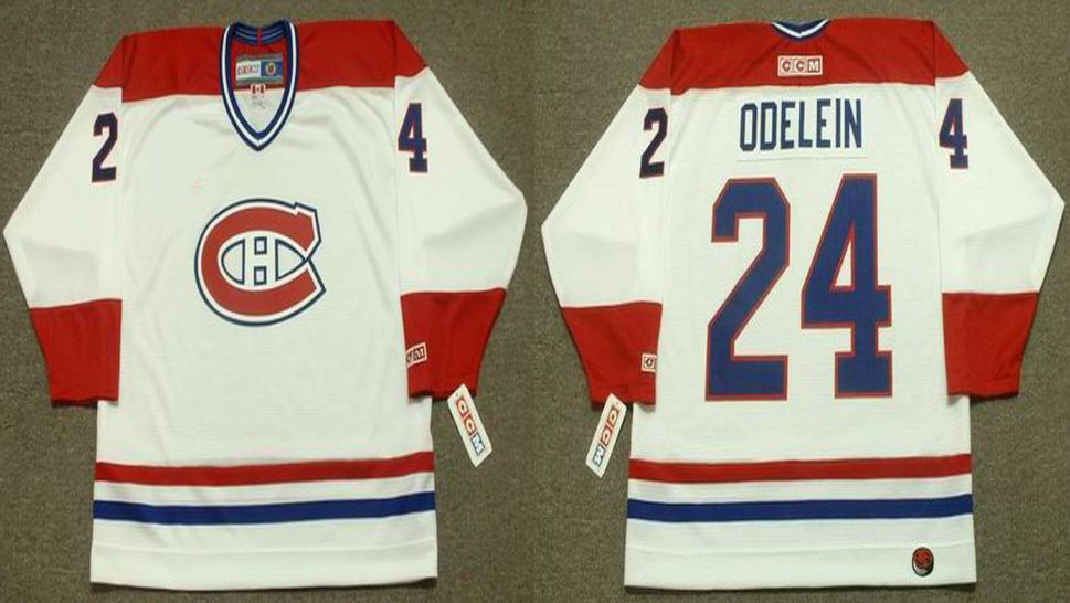 2019 Men Montreal Canadiens 24 Odelein White CCM NHL jerseys