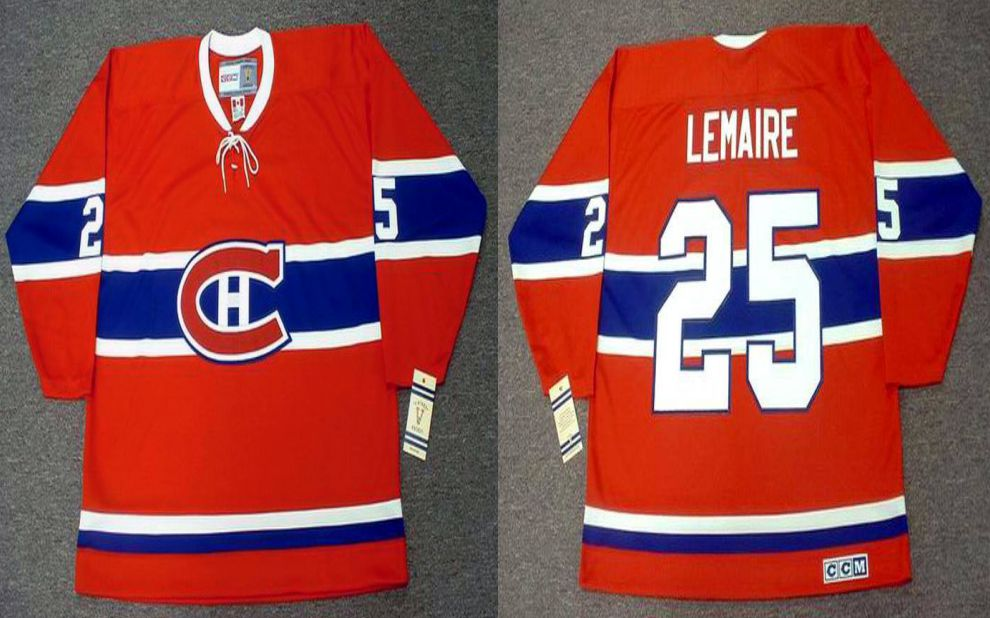 2019 Men Montreal Canadiens 25 Lemaire Red CCM NHL jerseys