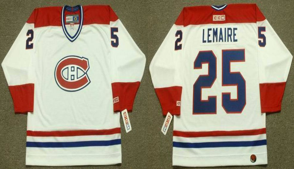 2019 Men Montreal Canadiens 25 Lemaire White CCM NHL jerseys