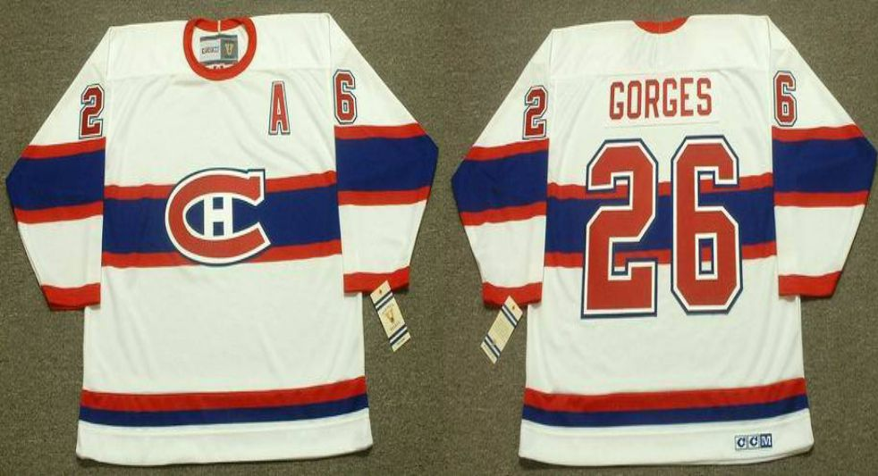 2019 Men Montreal Canadiens 26 Gorges White CCM NHL jerseys