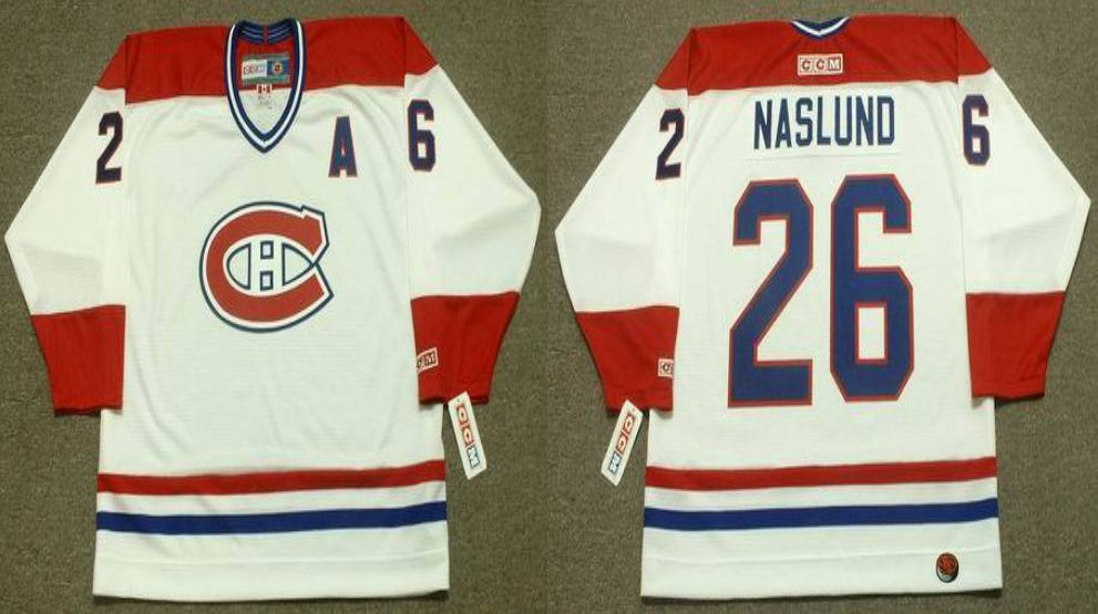 2019 Men Montreal Canadiens 26 Naslund White CCM NHL jerseys