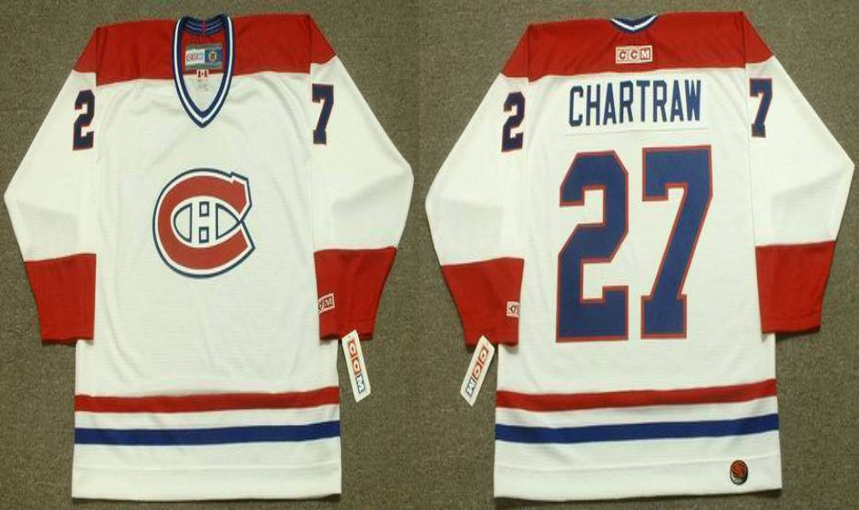 2019 Men Montreal Canadiens 27 Chartraw White CCM NHL jerseys