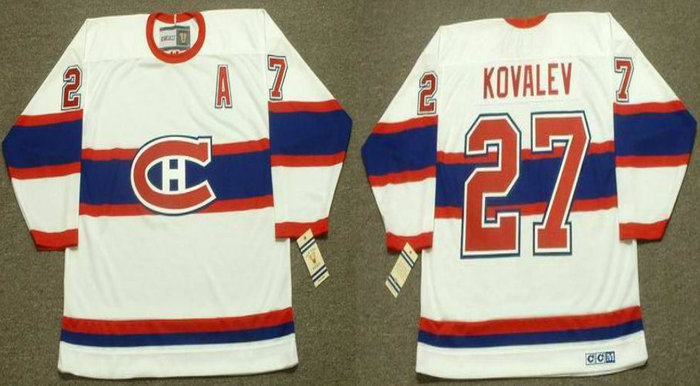 2019 Men Montreal Canadiens 27 Kovalev White CCM NHL jerseys